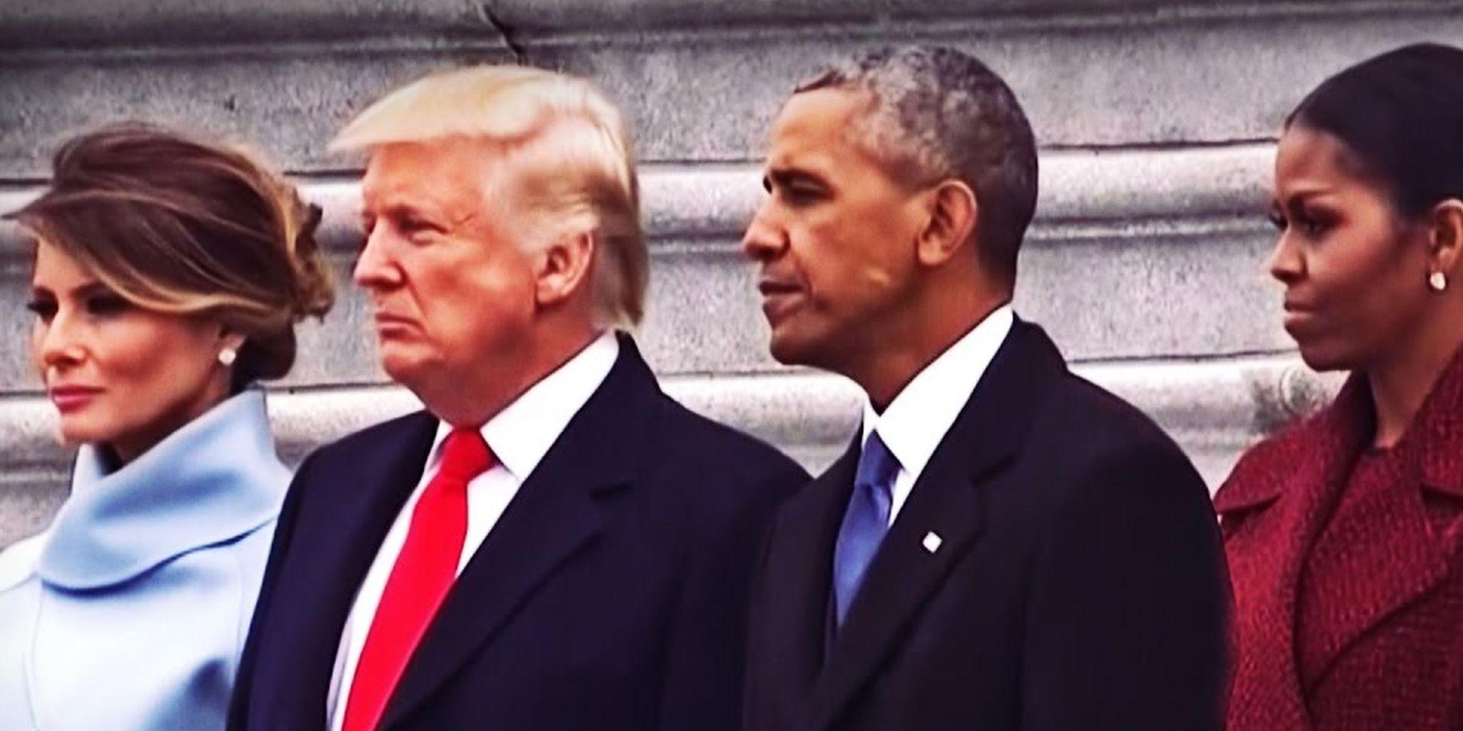 Trump y Obama, durante el cambio de gobierno en Estados Unidos.