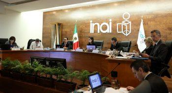 Inai, sesión de pleno, con Ximena Puente como comisionada presidente.