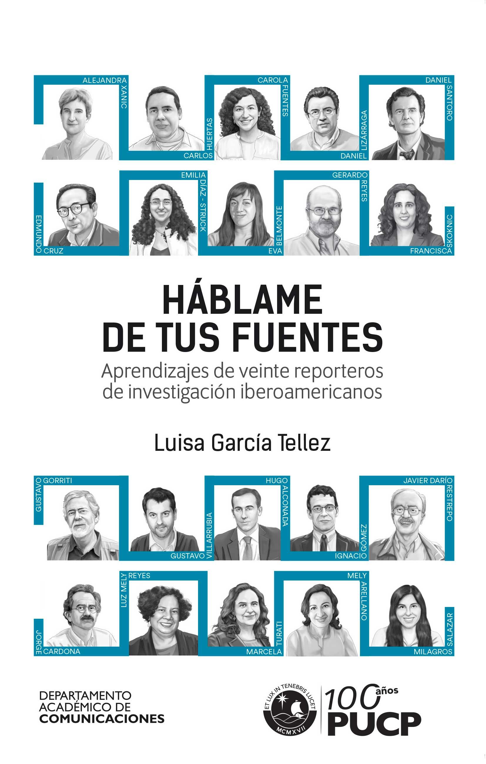 Portada del libro Háblame de tus fuentes, de Luis García Téllez.
