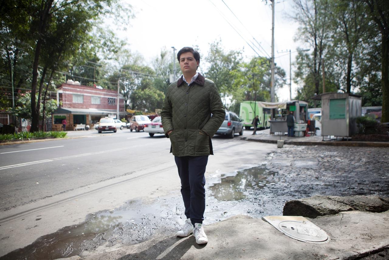 Luciano Concheiro en Coyoacán en octubre de 2016. Foto de Natalia Gaia para El Economista.