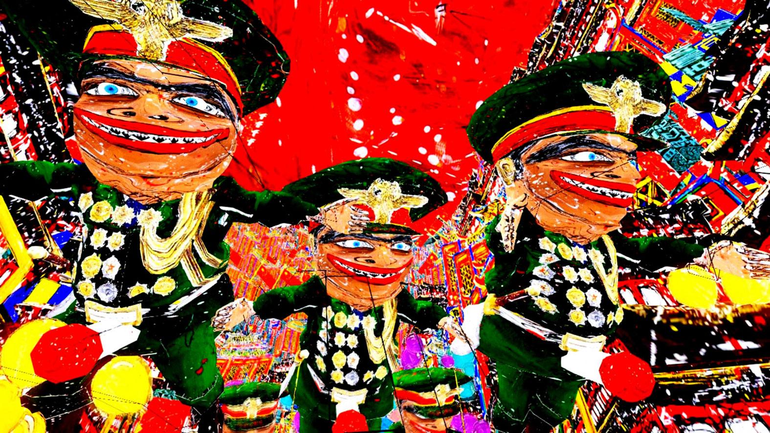 A Song Of Tryanny (Canción de tiranía), 2012, de Federico-Solmi.