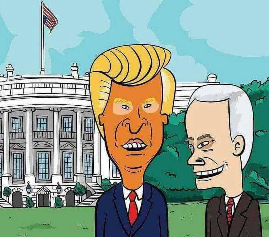 Donald Trump y Mike Pence as Beavis and Butthead.