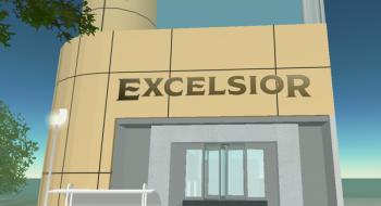 Oficinas de Excélsior en Second Life, en julio de 2007.