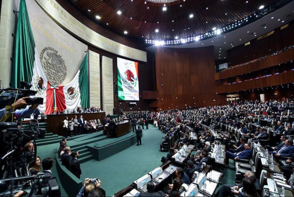 Salón del pleno de la Cámara de Diputados de México.