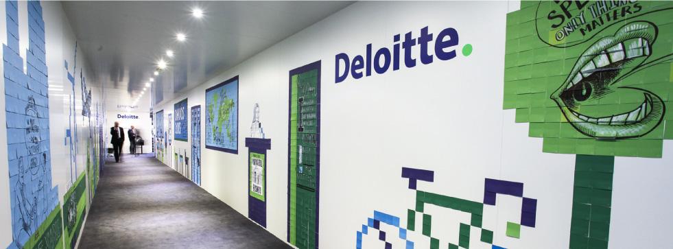 Imagen del interior de un edificio de Deloitte. Foto tomada de su cuenta de Facebook @ Deloitte México
