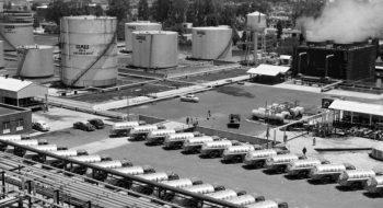 Pemex, refinería 18 de Marzo en Azcapotzalco, en 1946. Foto: Pemex