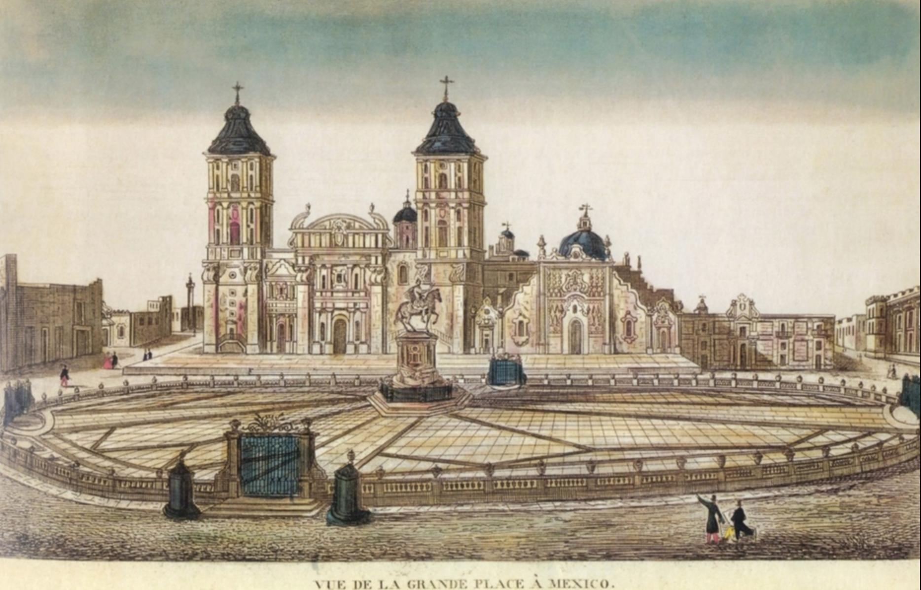 Zócalo de la Ciudad de México. Vue de la Grande Place a Mexico, 1797-1815.