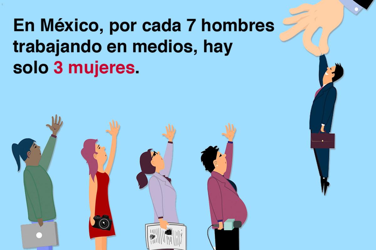 Así se discrimina a las mujeres en la industria de medios en México.