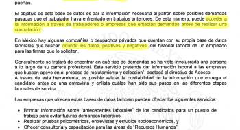 Respuesta a la solicitud de información 0001400052114 de la Secretaría del Trabajo sobre el buró laboral en México.