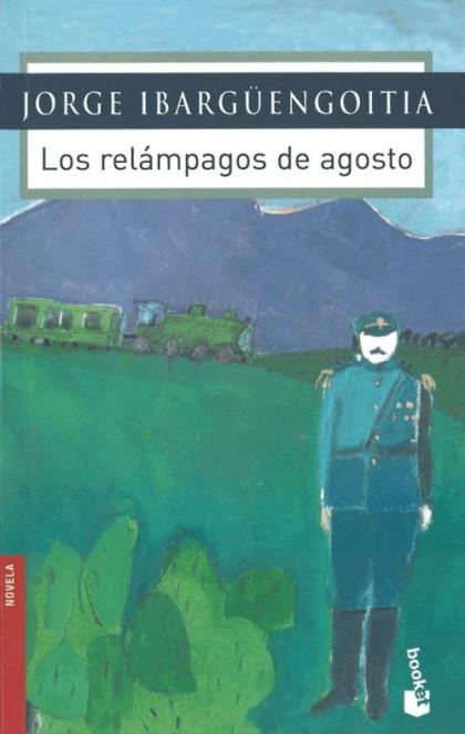 Portada de la novela Los relámpagos de agosto (1964), de Jorge Ibargüengoitia, con una pintura de Joy Laville.