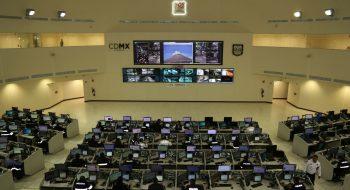 Interior del C5, el Centro de Comando, Control, Cómputo, Comunicaciones y Contacto Ciudadano de la Ciudad de México. Foto: Eric Lugo / El Economista