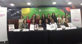 Presentación del libro Mujeres conectando mujeres, que muestra la trayectoria de 33 mujeres en los sectores de telecomunicaciones, radiodifusión y tecnologías de la información y la comunicación, en la FIL de Guadalajara 2018. Foto: Conectadas